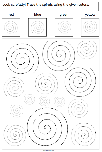 Spirals - Tracing and Recognizing - American Dyslexia Association ...